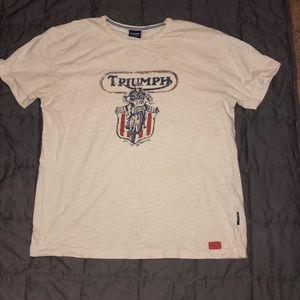 Vintage White triumph motorcycle T-shirt